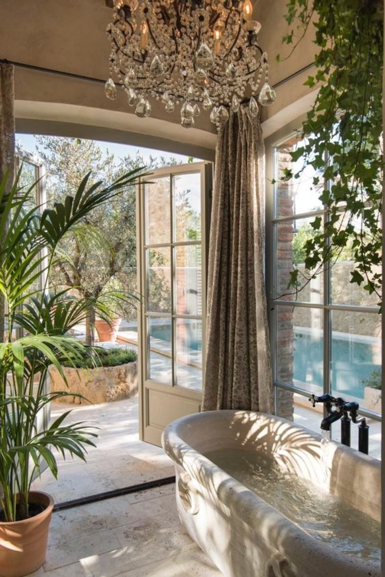 Shower plants create tropical spa experience