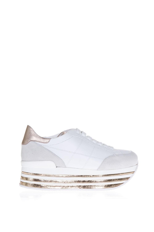 Hogan Maxi 222 White And Bronze Suede Sneakers Buy Cheap Footlocker Very Cheap Cheap Online Buy Cheap Finishline wmUMu