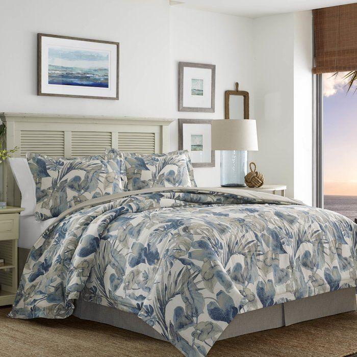 Cancun Palm 4 Piece Bedroom Set Wicker Rattan Queen King: Raw Coast 4 Piece Comforter Set