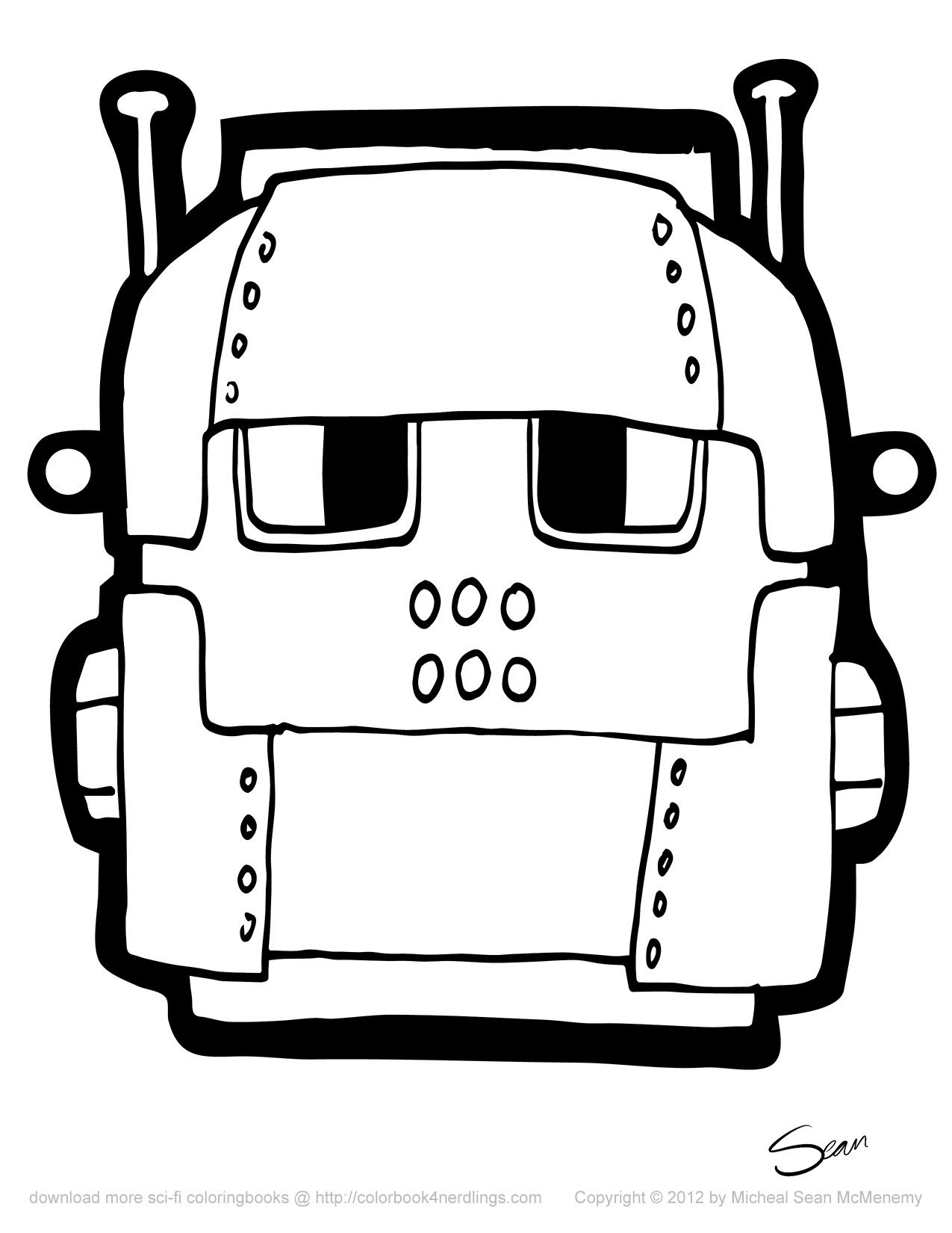 Free coloring pages robots - Free Coloring Books For Nerdlings 8 Robot Mask Printables