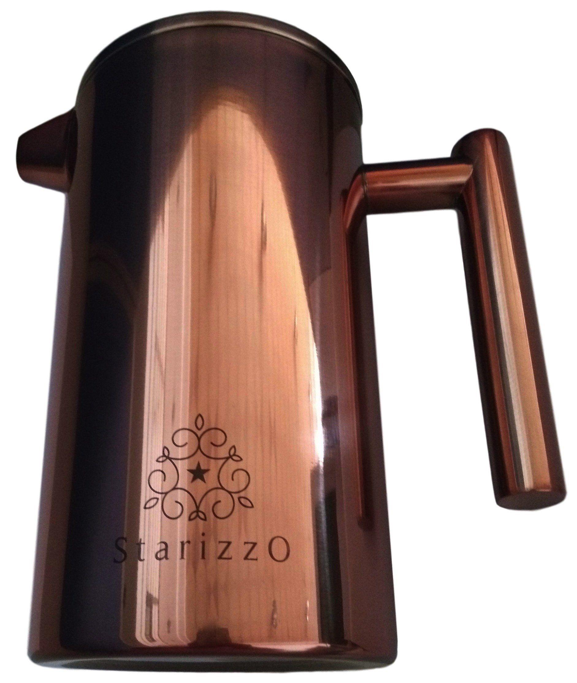 French press coffee maker with beautiful copper finish premium