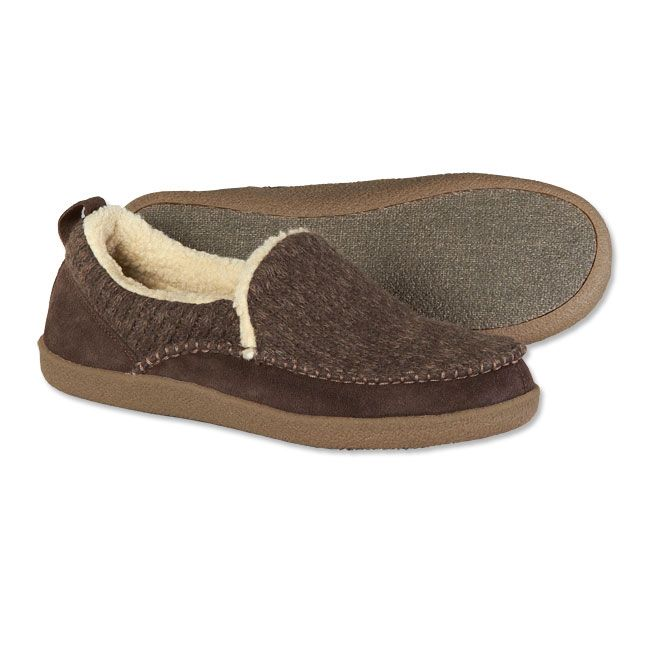 96c3d0e1a5855 Mens Slippers - Sherpa-Lined Wool-Suede Slippers -- Orvis on Orvis.com.  Love these! Do the make these for a woman? size 8.5??