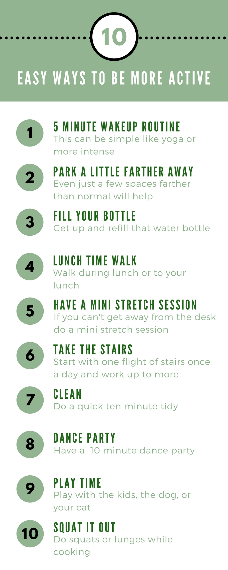 10 easy ways to be more active | health and wellness | pinterest