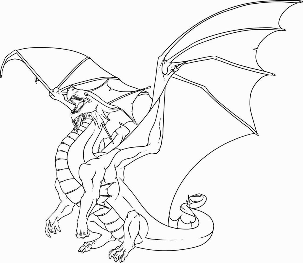 cool dragon coloring pages - Dragon Coloring Books