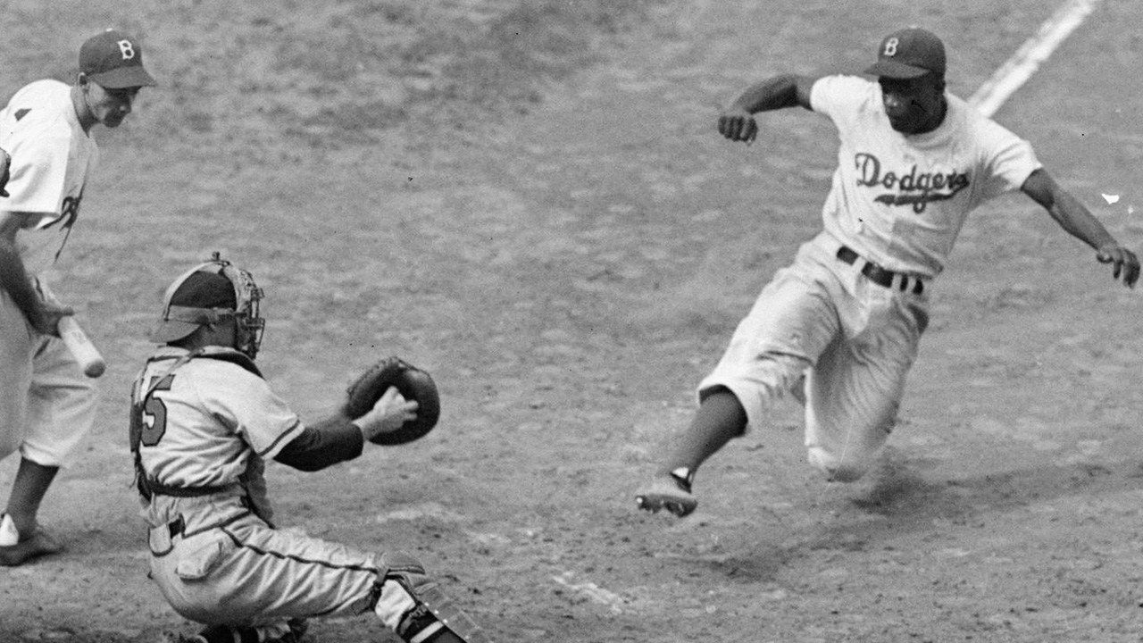 Jackie Robinson Stealing Home In The 1955 World Series Jackie Robinson Jackie Robinson Day Baseball