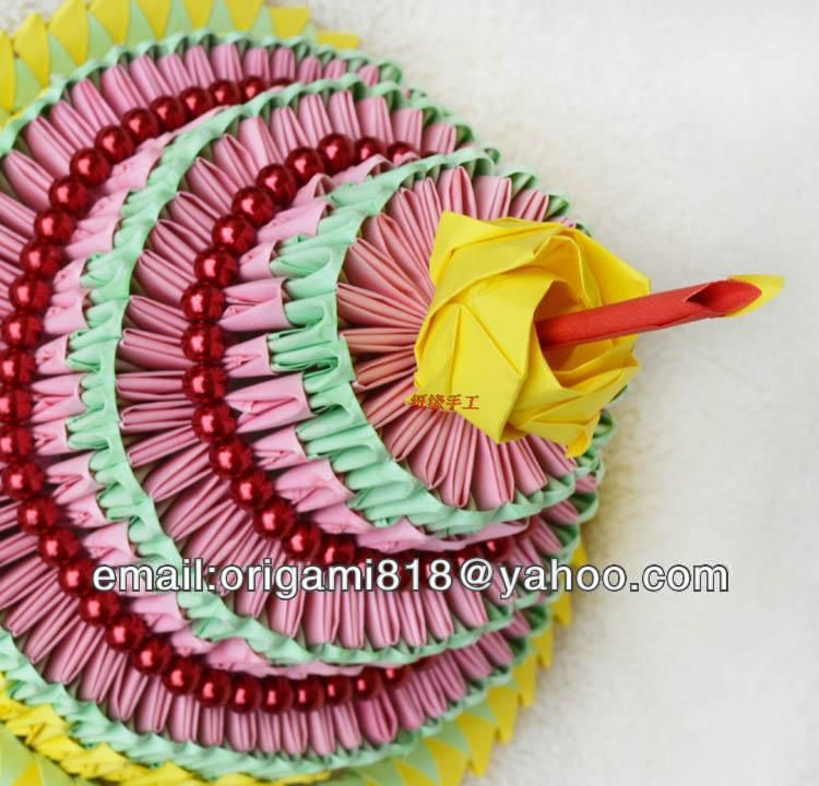3d Origami De Papel Para Pastel Cumpleaños Buen Regalo Como  cakepins.com