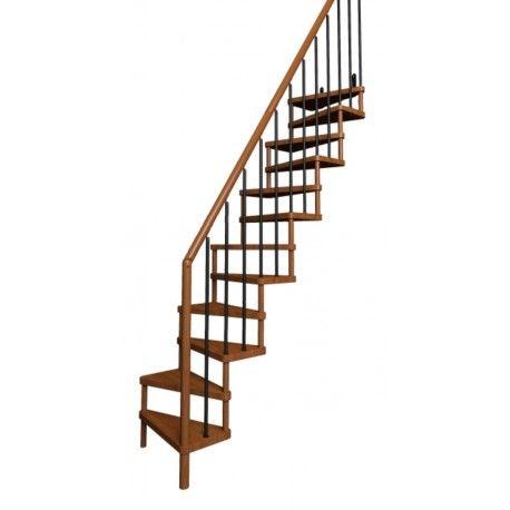 escalier gain de place droit modèle subtile tradition   petits