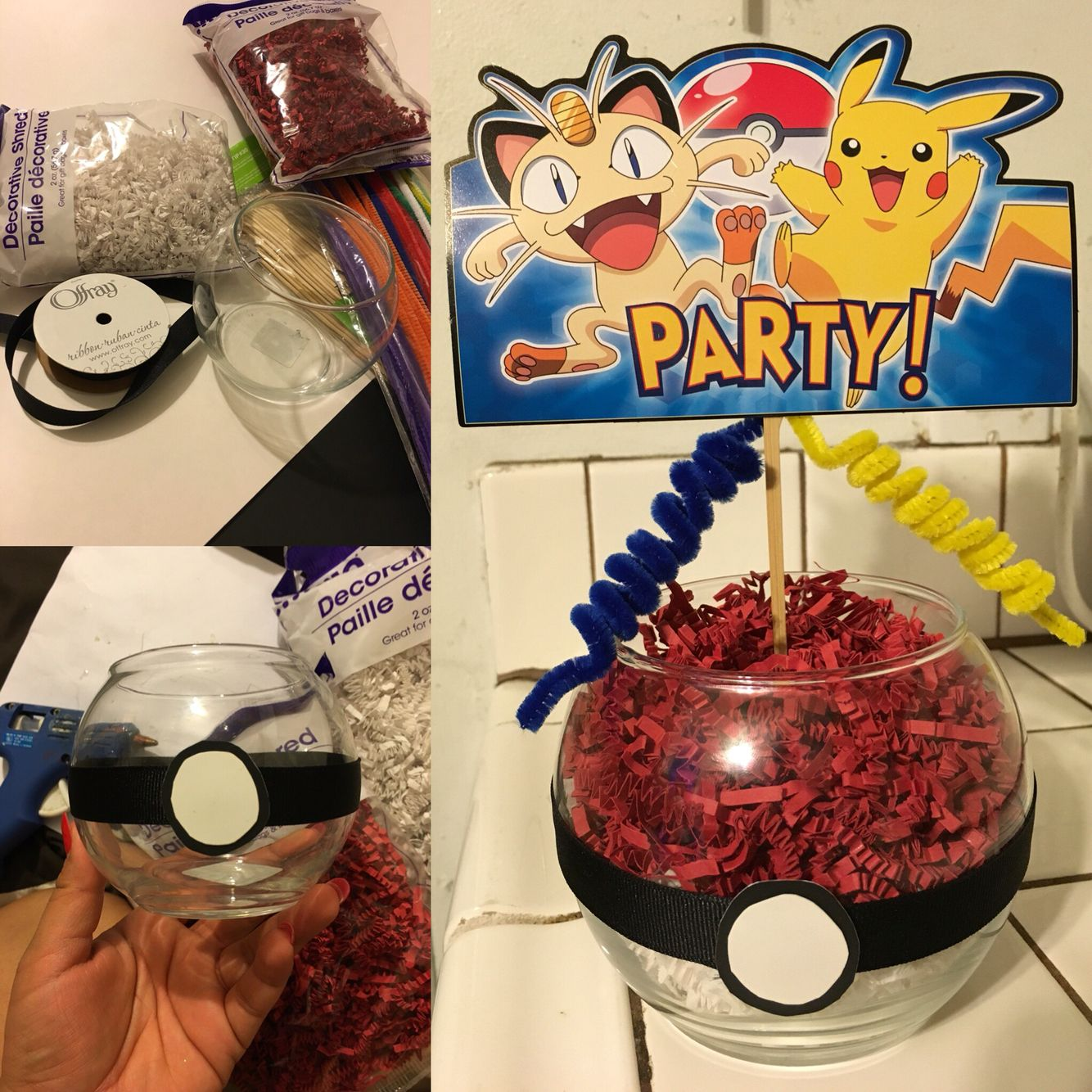 diy pokemon party centerpieces crafts photo shoot pinterest anniversaire pokemon. Black Bedroom Furniture Sets. Home Design Ideas