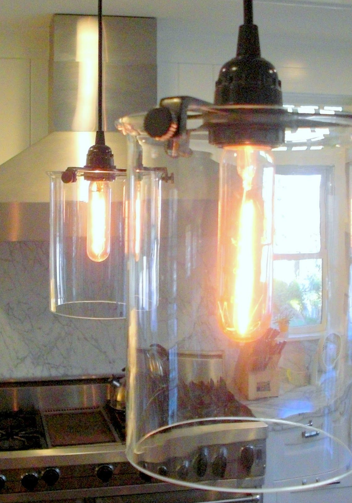 Glass cylinder pendant from roost at lumens sacramento new