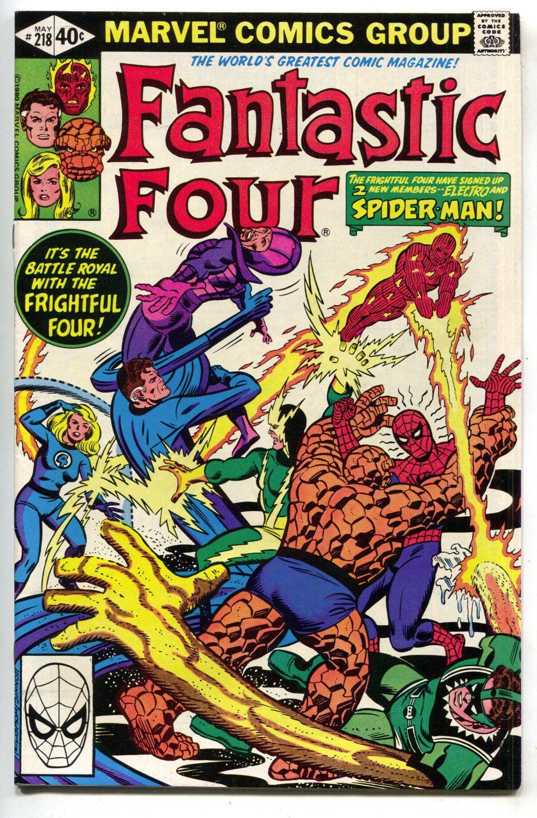 Fantastic Four 218 1st Series Marvel 1980 NM Spider-Man