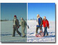 Esimerkkejä siitä, miten kuvia voi parannella kuvankäsittelyllä. Käytetty ohjelma Arcadia Software.