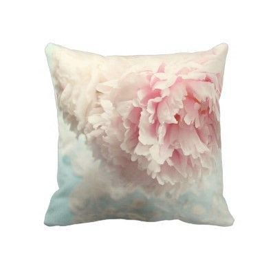 Pillow shabby chic pink peony by slcook52