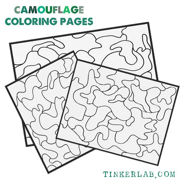 Homepage Tinkerlab Coloring Pages Camouflage Colors Camouflage