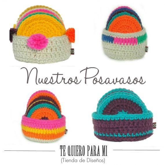 Posavasos en Crochet - Individuales y Posa Vasos - Casa - 396905 ...