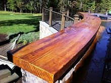 How To Make Your Concrete Bar Top Look Like Wood So Doing This