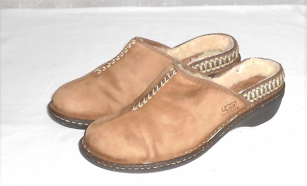 UGG Australia Women's Distressed Lined Mule Clog Slip On Shoe Euro 39 US 8 #UGGAustralia