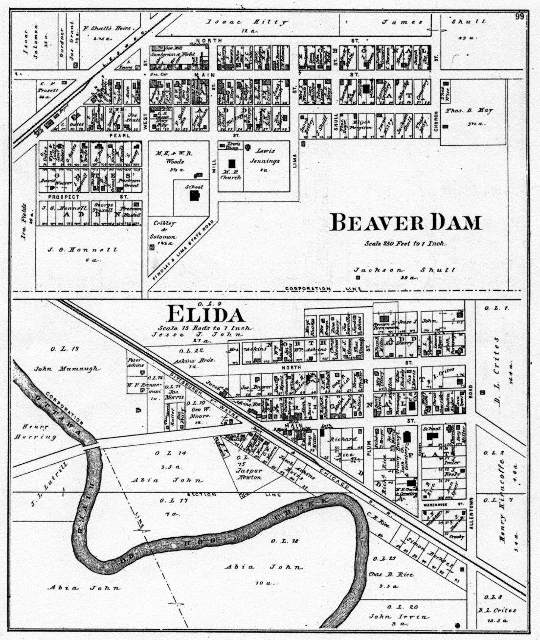 Map Of Beaverdam Ohio Bdelida Bytes