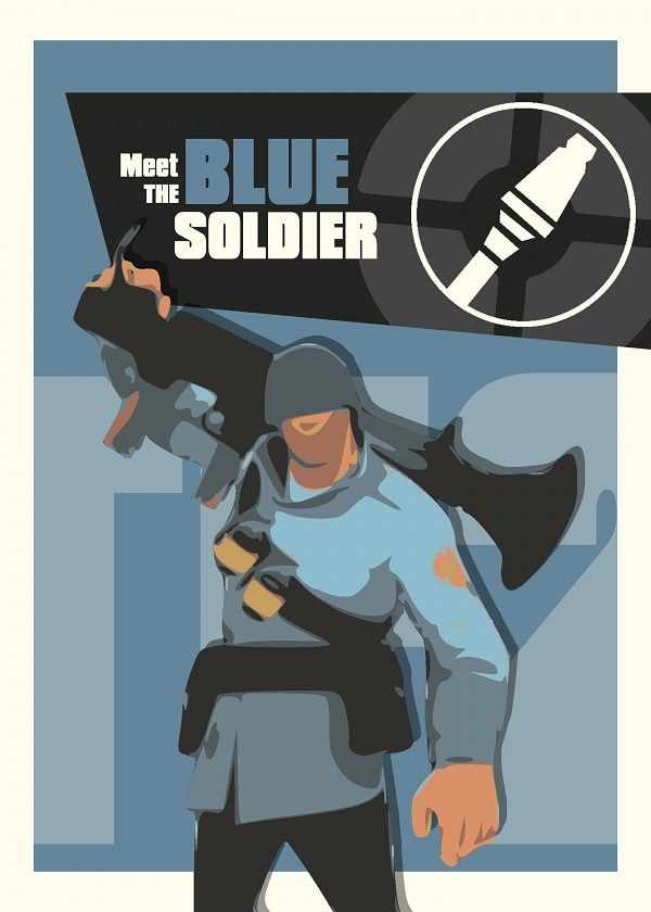 "Team Fortress 2 Characters Meet The Blue Soldier #Displate explore Pinterest""> #Displate artwork by… 