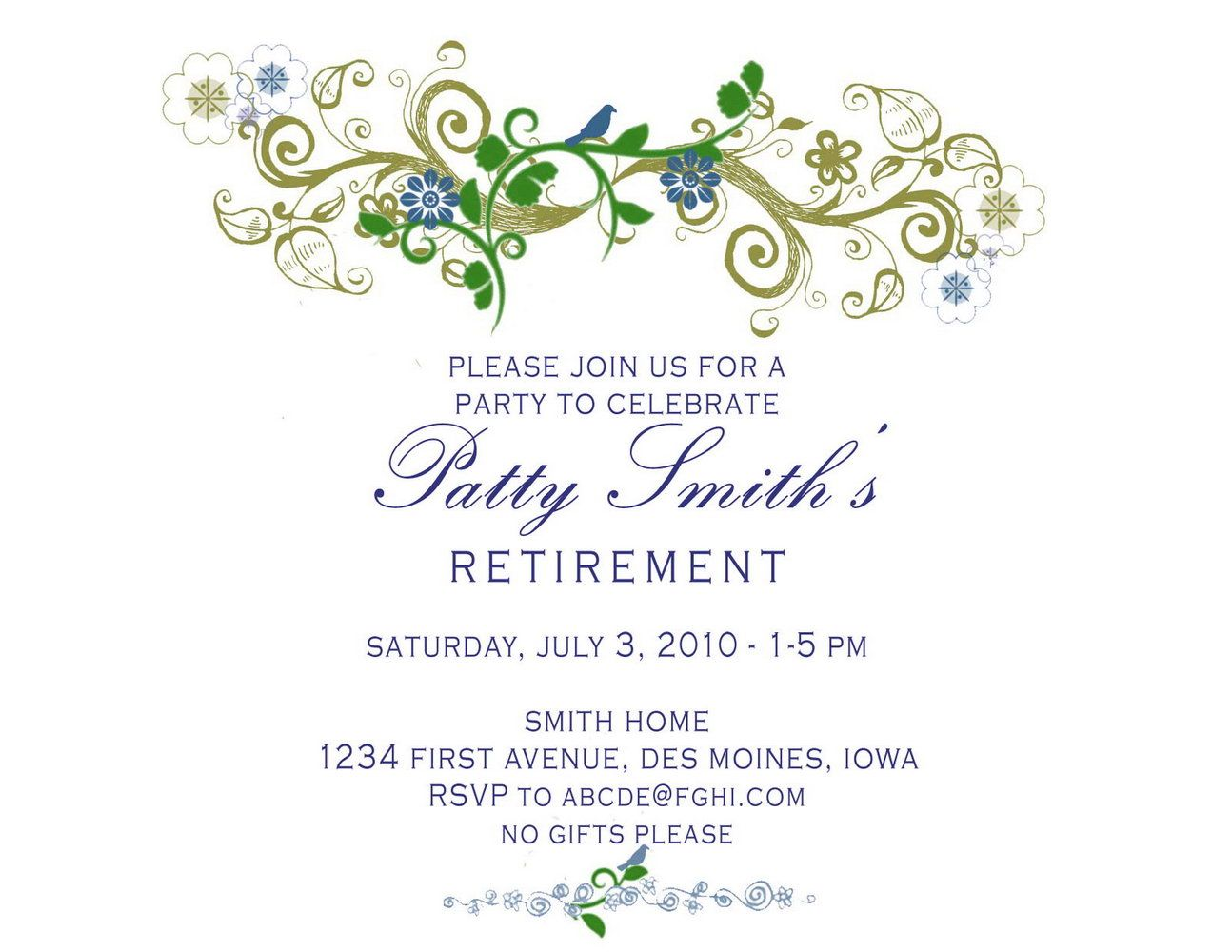 Party Invitation Template Powerpoint  Retirement invitation