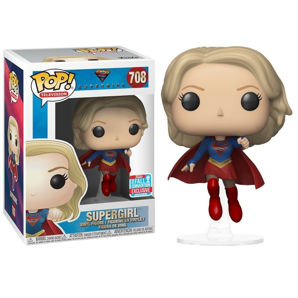 Funko Pop Supergirl Nycc 2018 Barnes Noble Exclusive B N 708 Mint Protector Collectibles Pinbacks Bobbles L Munecos Pop Superheroe Flash Figuras Funko