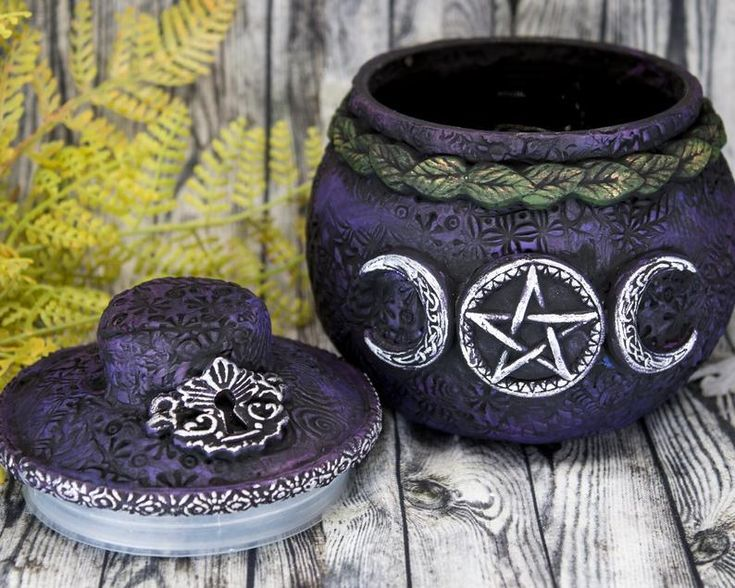 Triple Moon Pentacle Witch Potion Bottle Apothecary Jar