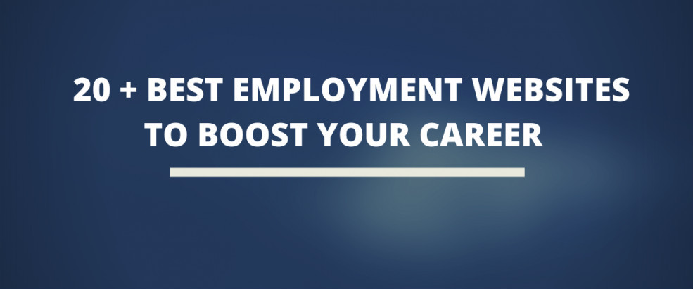 20 Best Employment Websites To Boost Your Career Job Agency Employment Find A Job