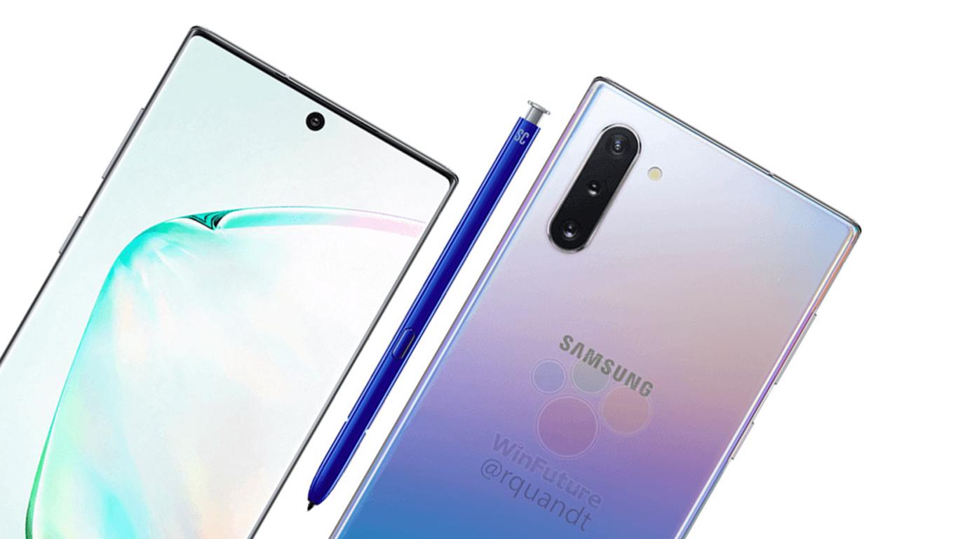 تسريب يكشف تصميم الهاتف الذكي جالاكسي نوت 10 بلس من سامسونج للإعلان على الموضوع Http Bit Ly 2yyho1c Samsung Galaxy Galaxy Note Galaxy Note 10