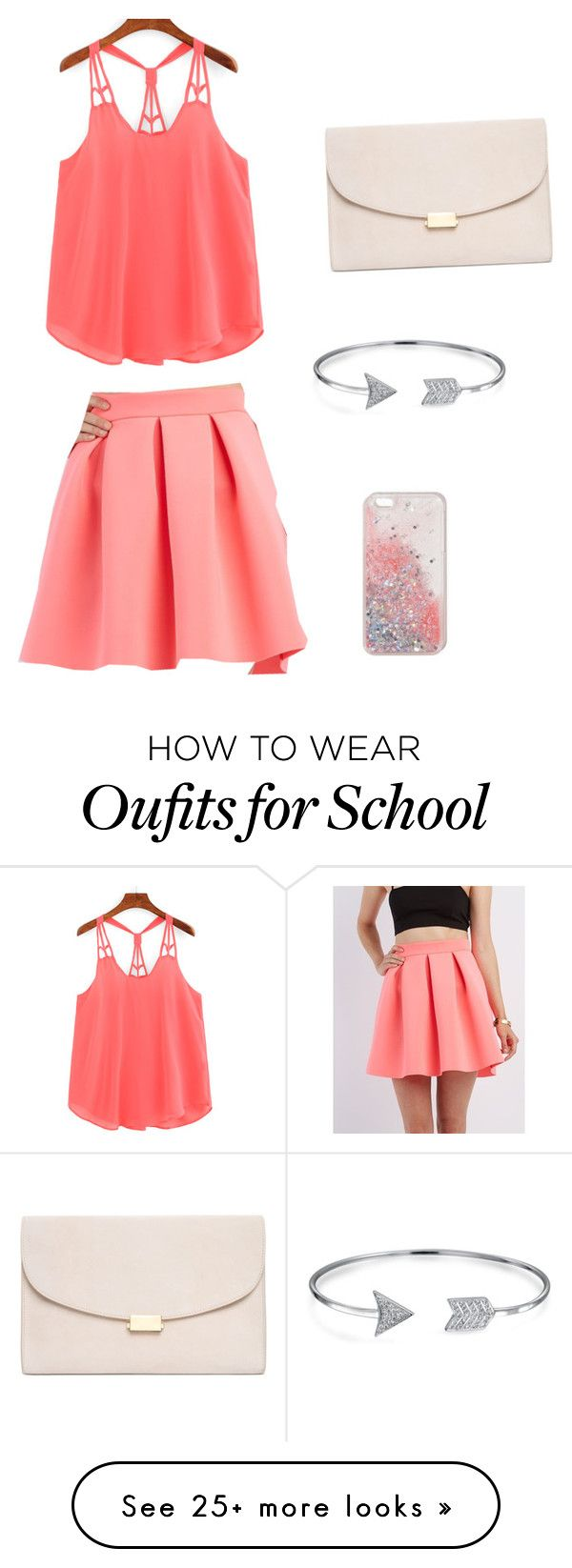 """School outfit"" by alenaictz on Polyvore featuring Charlotte Russe, Mansur Gavriel and Bling Jewelry"