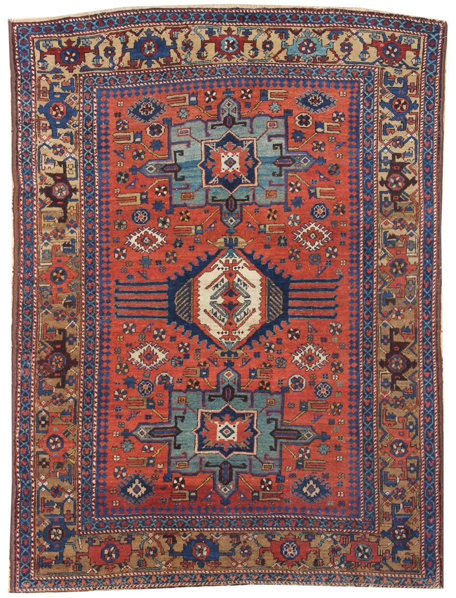 Antique Heriz Serapi Rugs Gallery Karaja Rug Hand Knotted In Persia