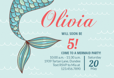 Fantasy Fin Birthday Invitation Template Free Greetings Island Mermaid Birthday Party Invitations Mermaid Party Invitations Mermaid Birthday Invitations
