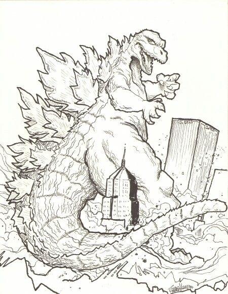 Imagenes De Godzilla 2 Para Colorear
