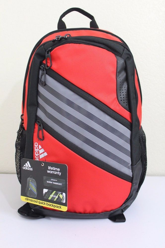 c2c9b5462f58 adidas climacool quick backpack laptop storage media pocket water resistant   adidas  Backpack