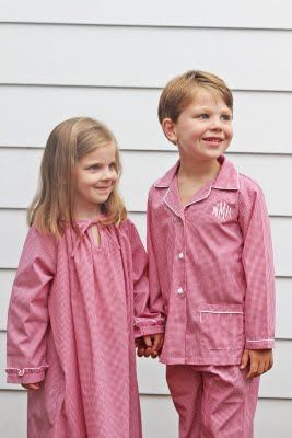 64e4515648 The Pink Giraffe  New Monogrammed Pajamas for Children!