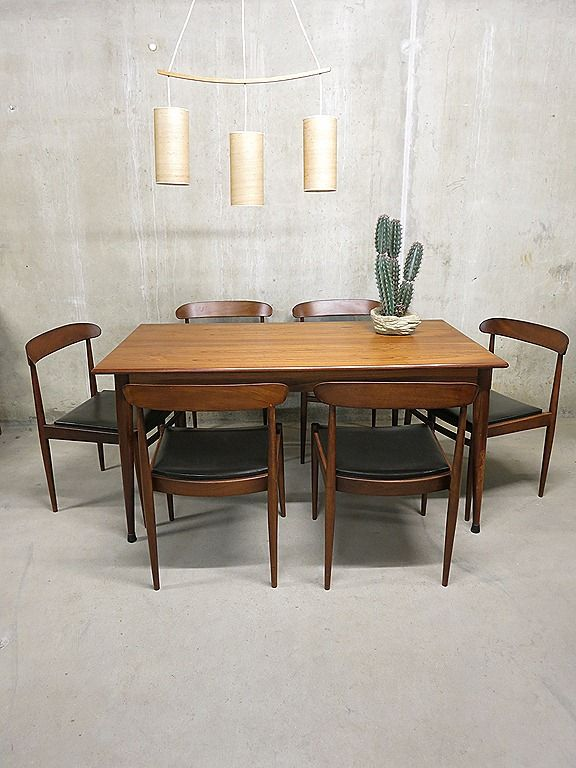 Mid century vintage design Deense eetkamer set, Danish vintage ...