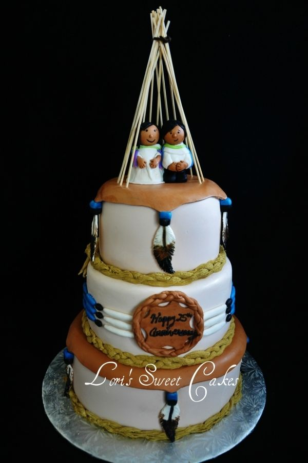 cowboy and indian wedding cake topper wedding cake keywords nativeamericanweddingcake 13023