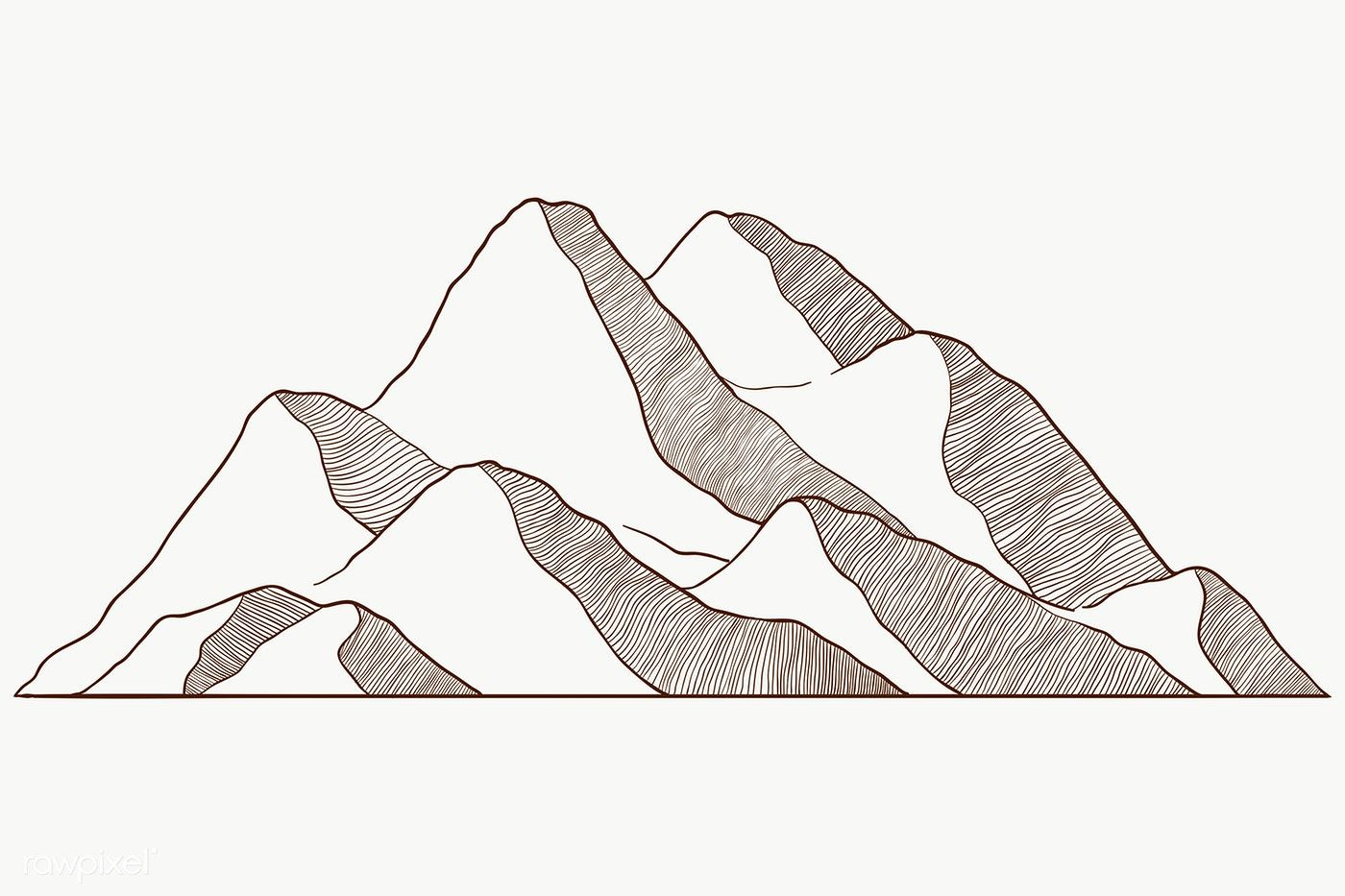 Download Premium Png Of Mountain Shape For Logo Transparent Png