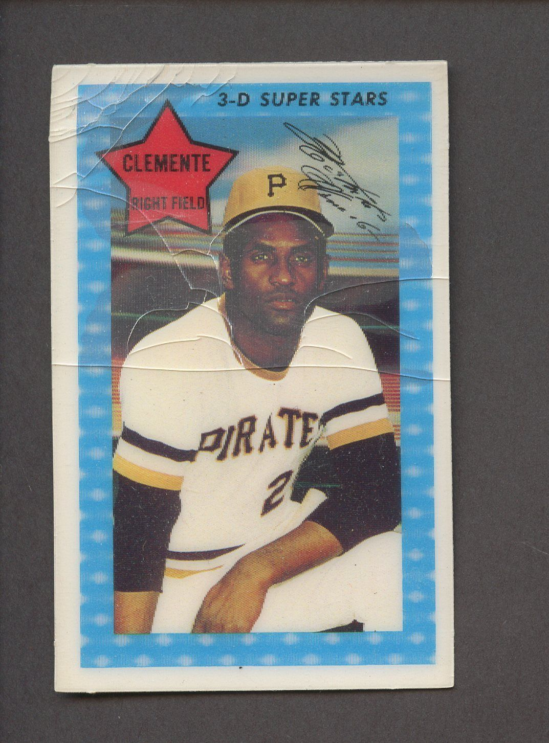 Roberto Clemente 1971 Topps Kelloggs 3d Super Stars Card 5 Pirates