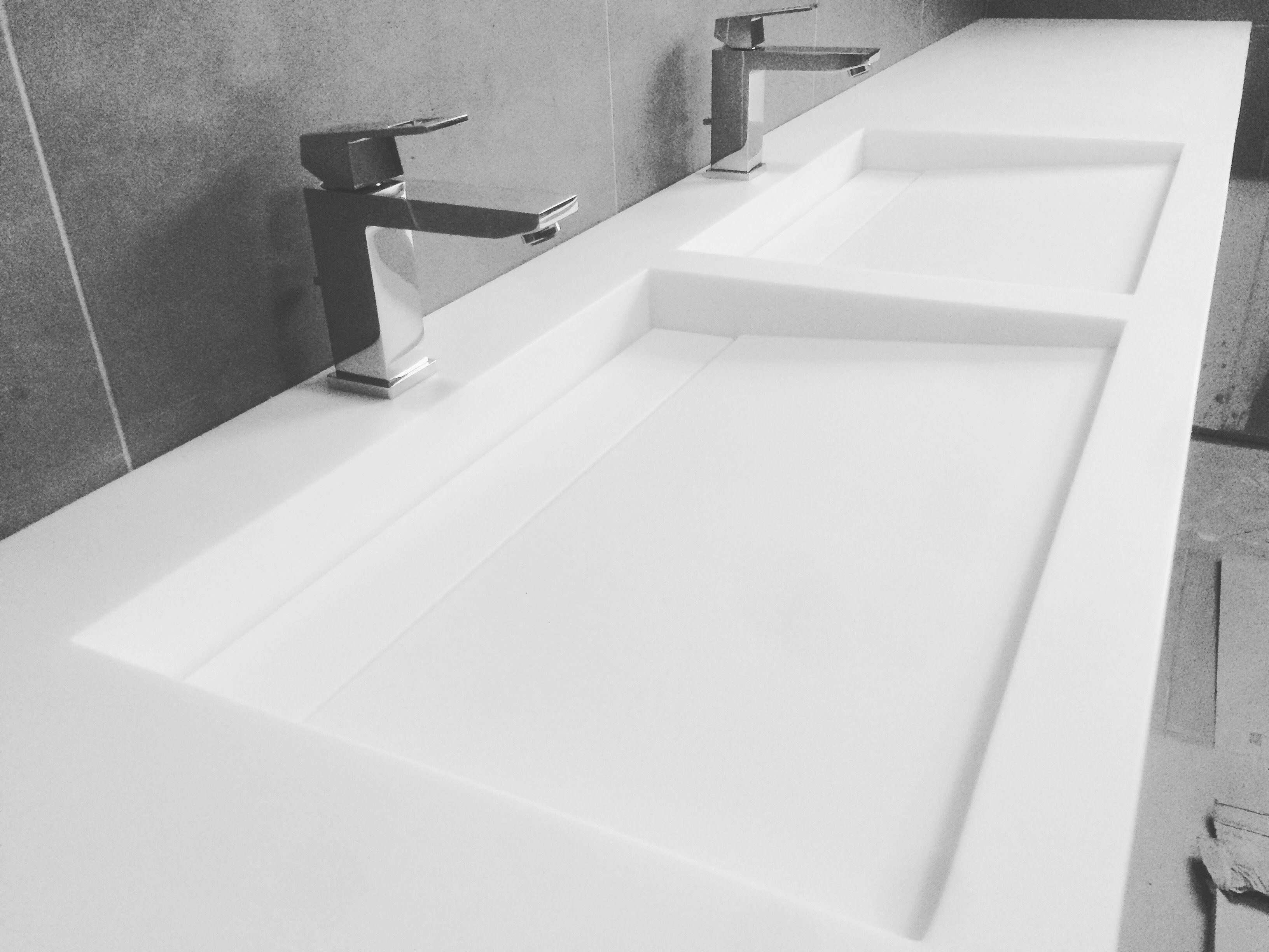 Wastafel Op Maat : Solid surface wastafel op maat almaco interieur realisaties