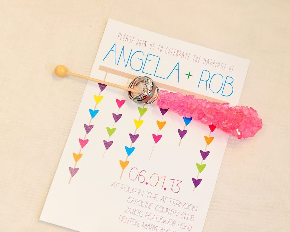 rainbow heart invitations, adorable https://www.facebook.com/pages ...