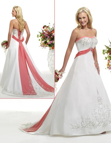 I Think Adding Color To A White Wedding Dress Is A Horrible Idea