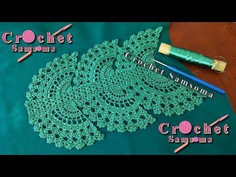 Crochet Samsoma زواقة صدر كروشيه للقفطان المغربي والقندورة الجزائرية وايضا فساتين الفراشة والعبايات الخليجية Crochet Crochet Necklace Crochet Lace