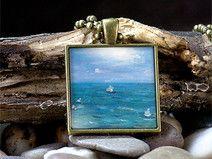 Monet Cameé Anhänger, lange Kette