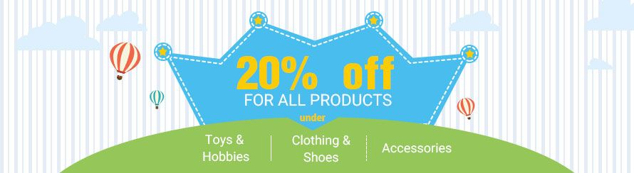 20% off for all under category