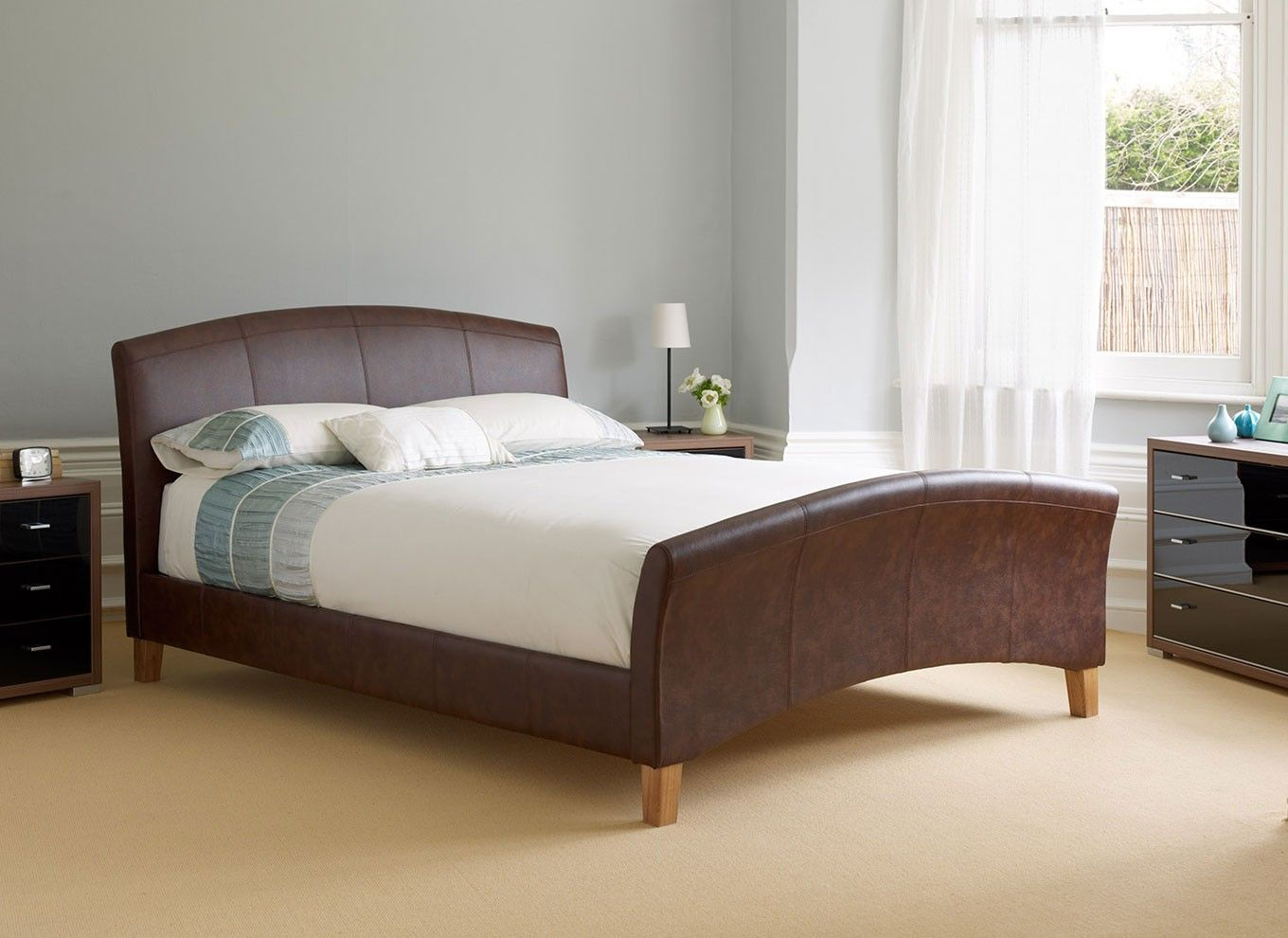Riva Bedstead Dark Tan My new bed!! Cool bed frames