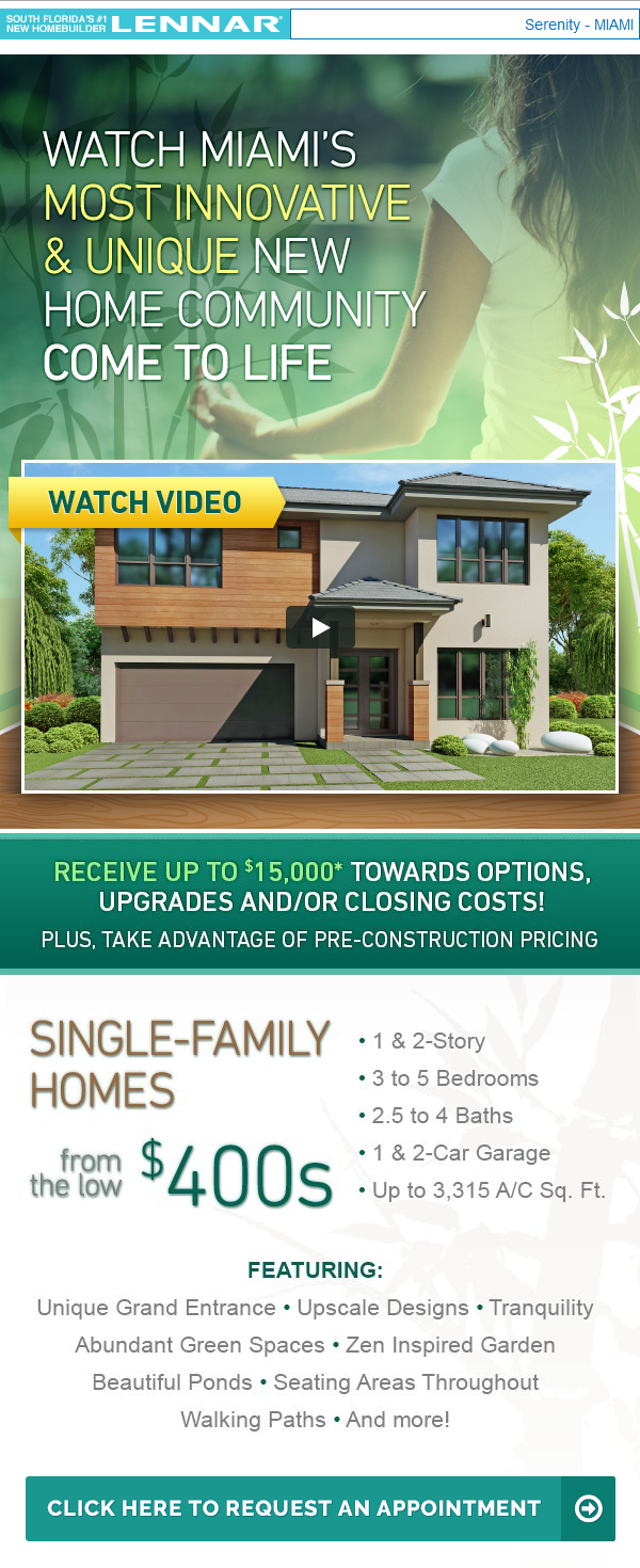 New Preconstruction Homes In Kendall Get Up To 15k Incentives New Home Communities Building A House Lennar