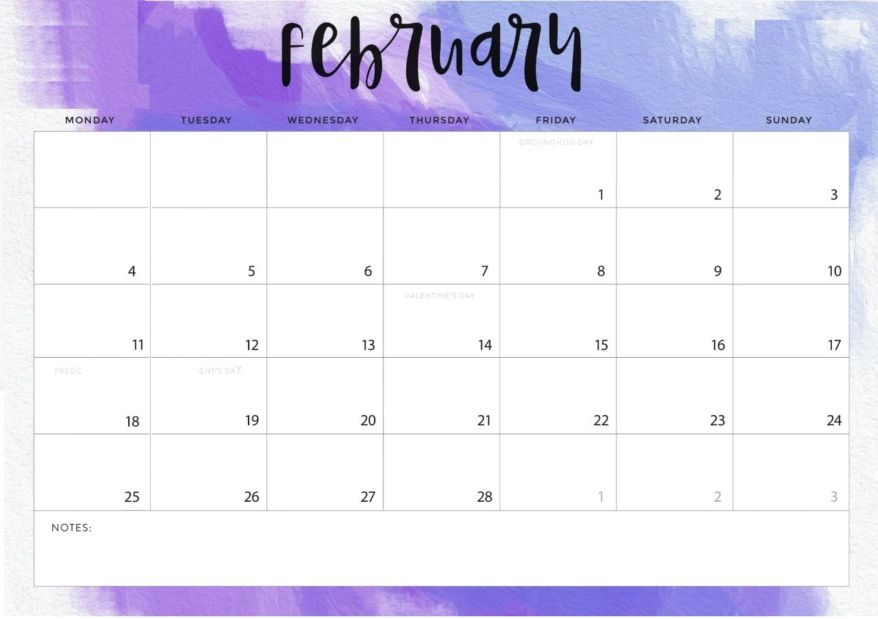 February 2019 Calendar Word Calendar Printables February