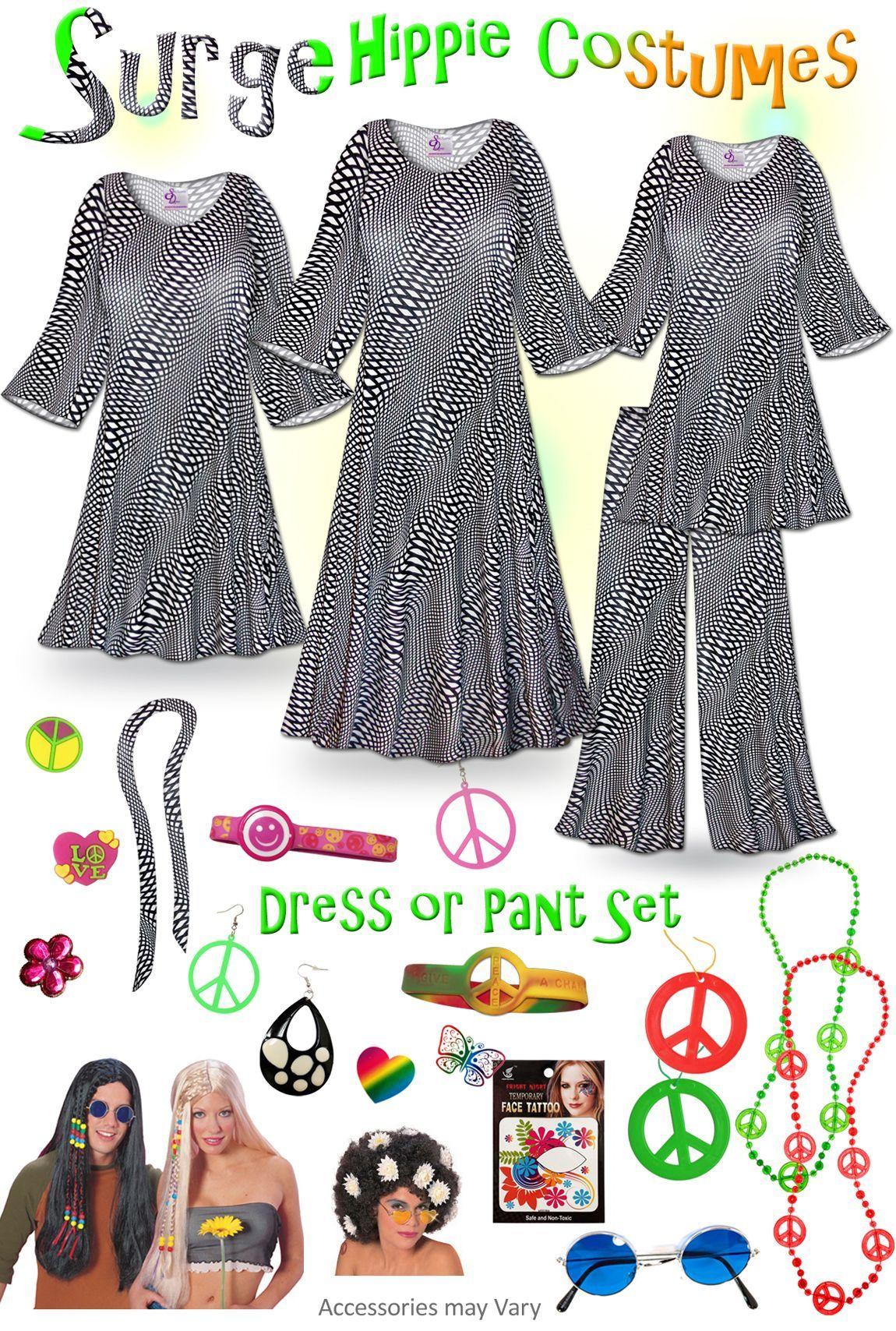 SOLD OUT! Surge Print Plus Size Hippie Costume 60 s