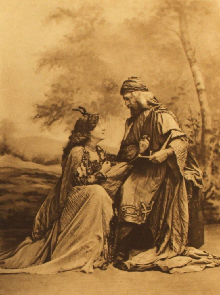 Mr and Mrs Hall Walker as the magician Merlin and Vivian the Lady of the Lake who enchants him in some versions of the story, Duchess of Devonshire's 1897 Diamond Jubilee