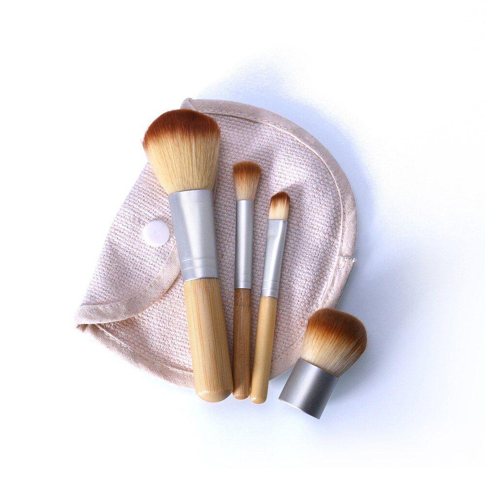 O. ZWEI. O 4 Teile/los Bambus Pinsel Foundation Pinsel Make-up Pinsel Kosmetische Gesicht Pulver Pinsel Für Make-Up Schönheit Werkzeug – 9966