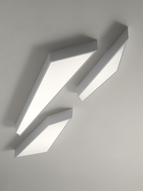 Contemporary ceiling light aluminium fluorescent dimmable contemporary ceiling light aluminium fluorescent dimmable lightecture shatter by serge aloadofball Gallery